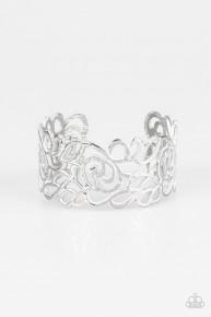 Victorian Gardens - White Cuff Bracelet