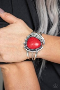 Nature's Bounty - Red Cuff Bracelet