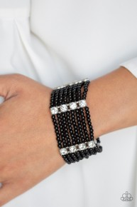 Get In Line - Black Bracelet