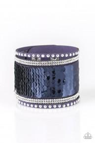 Mermaids Have More Fun - Blue Sequin Bracelet