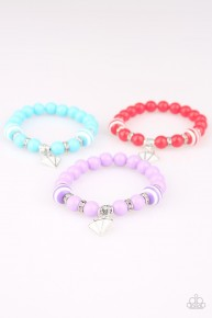 Starlet Shimmer Charm Bracelet - Red