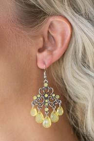 Dip It GLOW - Yellow Earrings