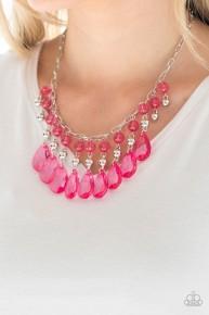 Beauty School Dropout - Pink Necklace