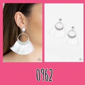 Spartan Spirit - White Fringe Earrings