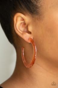 Hot Tamale - Copper Acrylic Hoop Earrings