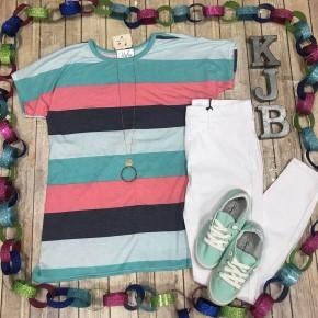 Summer Stripe S/S Top