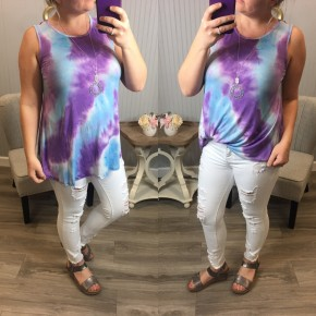 Mint Lavender Tie Dye Tank