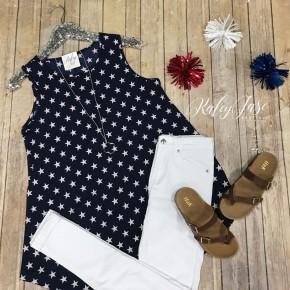 Dressy Navy Star Tunic