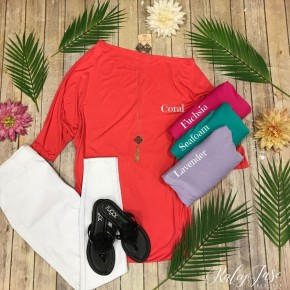 H Solid Slouchy Top