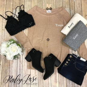 2 Way Off Shoulder Long Sleeve Tunic