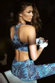Blue Tropical Workout Set