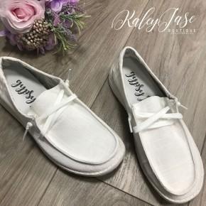 Very G White Slide on Shoe