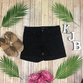 SA Black Distressed Shorts