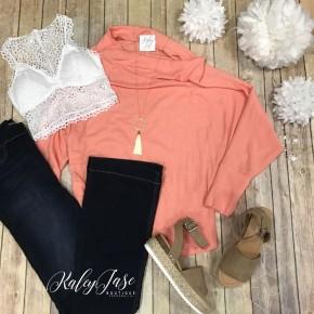 Peach Slouchy Knit Top