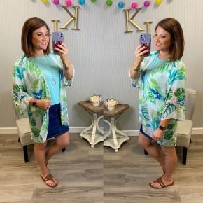 Lime Tropical Kimono