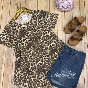 Brown Leopard Babydoll Top