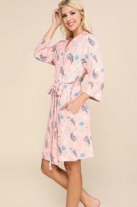 Blush Flamingo Robe (WAITLIST TO PREORDER)