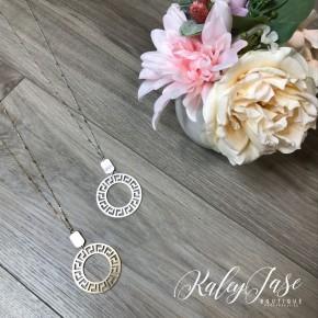 Circle Maze Pendant Necklace #19