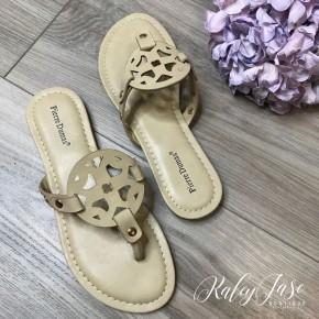Nude Cutout Sandals
