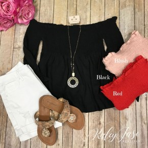 Ruffle Ruched  Off Shoulder Top