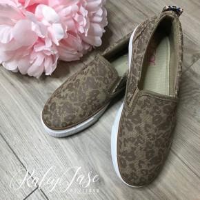 Leopard Slide On Sneakers