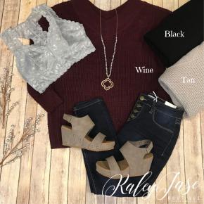 Z Vneck Slouchy Sweater
