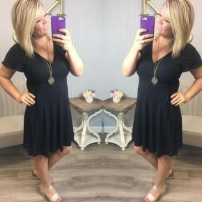 Black V Tie Dress
