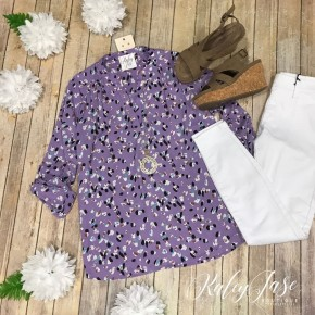 Lavender Spotted Vera Top