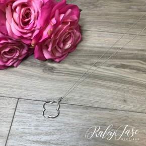 Silver Clover Pendant Necklace #16