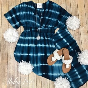 Navy Blue Tie Dye Maxi