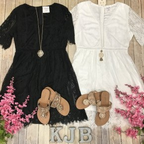 Lace Detailed Overlay Dress