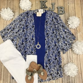 Royal Leaf Sheer Kimono