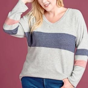 Colorblock Hacci Knit Sweater