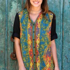 Vintage Print Tunic Top/Dress