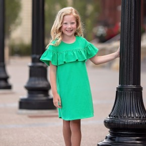 Mabel and Honey Green Dress