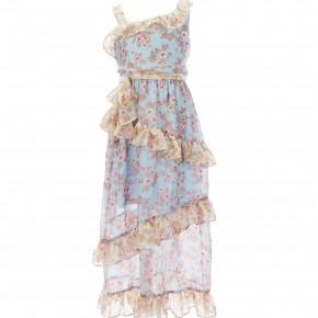 Bonnie Jean Mixed Print Chiffon Maxi Dress