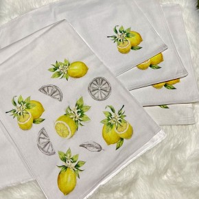 5 Pc. Set Fabric Lemon Table Set