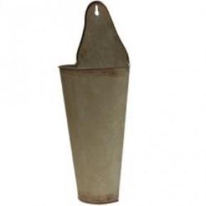 2/Set, Vintage Galvanized Cone Buckets