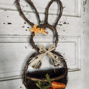 "18.75"" Natural Vine Bunny"