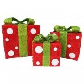 Vine Gift Box  - Red / Lime
