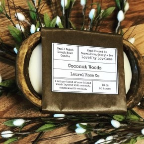 Dough Bowl Candle - Coconut Woods