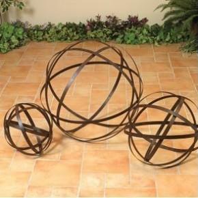 Metal Band Garden Sphere