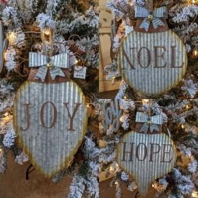 Metal Ornament Shaped Wall Hanging