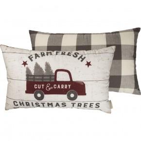 Farm Fresh Christmas Trees Pillow