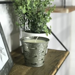 Mini Olive Bucket Candle - Cherry Blossom