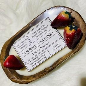 Dough Bowl Candle - Strawberry Pound Cake
