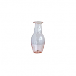 Pink Hand Blown Glass Vase - Small