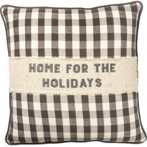 Home For The Holidays Farmhouse Pillow