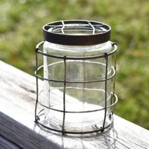"6"" Round Stem Jar"