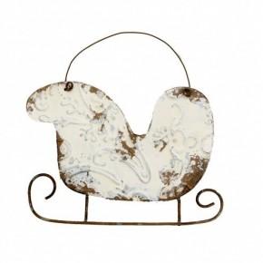 Vintage Metal Sleigh Ornament